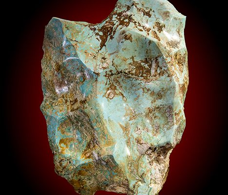 Figure 24. This 245 lb. boulder of turquoise, removed from the Polk County deposit in 1982, is the largest known American turquoise nugget. Photo by Robert Weldon/GIA.